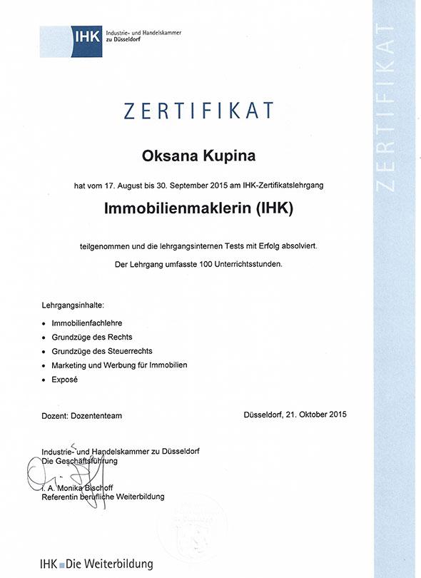 Urkunde-IHK-Kupina